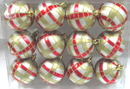 Winterland WL-ORN-12PK-PLD-RG - Silver Ball Ornament With Red And Gold Plaid Design 12Pk