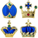 Winterland WL-ORN-4PK-CRN-BL 4pk Blue Crown Ornaments