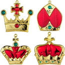 Winterland WL-ORN-4PK-CRN-RE 4pk Red Crown Ornaments