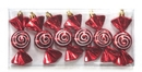 LEDgen WL-ORN-6PK-SWL Red And White Onion Ornament With Spiral Design 6 Pack