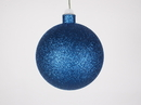 Winterland WL-ORN-BLKG-100-BL-W 100MM Glitter Blue Ball Ornament W/Wire