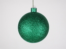 Winterland WL-ORN-BLKG-100-GR-W 100MM Glitter Green Ball Ornament W/Wire