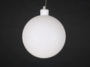 Winterland WL-ORN-BLKG-100-WH-W 100MM Glitter White Ball Ornament W/Wire