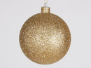 Winterland WL-ORN-BLKG-120-GO -W: 120mm Glitter Gold ball ornament with wire