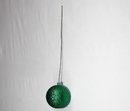 Winterland WL-ORN-BLKG-120-GR-W 120MM Glitter Green Ball Ornament W/Wire