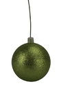 LEDgen WL-ORN-BLKG-120-LG-W 120mm Lime Green Glitter Ball Ornament with Wire