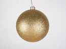 Winterland WL-ORN-BLKG-140-GO-W - 140mm Glitter Gold ball ornament with wire