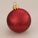 Winterland WL-ORN-BLKG-140-RE-W 140MM Glitter Red Ball Ornament W/Wire