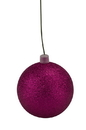 LEDgen WL-ORN-BLKG-200-PI-W 200mm Pink Glitter Ball Ornament with Wire