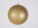 Winterland WL-ORN-BLKG-250-GO-W - 250mm Glitter Gold ball ornament with wire