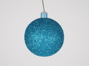 Winterland WL-ORN-BLKG-60-AQ-W 60MM Glitter Aqua Ball Ornament W/Wire