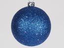 Winterland WL-ORN-BLKG-60-BL-W 60MM Glitter Blue Ball Ornament W/Wire