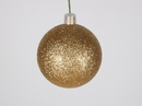 Winterland WL-ORN-BLKG-60-GO-W 60MM Glitter Gold Ball Ornament W/Wire