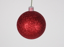 Winterland WL-ORN-BLKG-60-RE-W 60MM Glitter Red Ball Ornament W/Wire