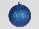 Winterland WL-ORN-BLKG-70-BL-W 70MM Glitter Blue Ball Ornament W/Wire