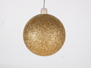 Winterland WL-ORN-BLKG-70-GO-W 70MM Glitter Gold Ball Ornament W/Wire