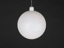 Winterland WL-ORN-BLKG-70-WH-W 70MM Glitter White Ball Ornament W/Wire