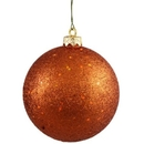 Winterland WL-ORN-BLKG-80-CO-W 80MM Glitter Copper Ball Ornament W/Wire