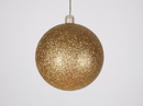 Winterland WL-ORN-BLKG-80-GO-W 80MM Glitter Gold Ball Ornament W/Wire