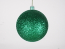 Winterland WL-ORN-BLKG-80-GR-W 80MM Glitter Green Ball Ornament W/Wire