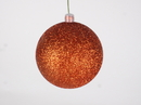 Winterland WL-ORN-BLKG-80-OR-W 80MM Glitter Orange Ball Ornament W/Wire
