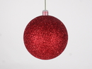 Winterland WL-ORN-BLKG-80-RE-W 80MM Glitter Red Ball Ornament W/Wire