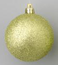 Winterland WL-ORN-BLKG-80-SG-W 80MM Glitter Sage Green Ball Ornament W/Wire