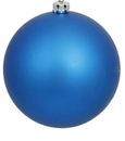 Winterland WL-ORN-BLKM-100-BL-UV 100MM Matte Blue Ball Ornament W/Wire And UV Coating