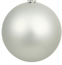 Winterland WL-ORN-BLKM-100-SLV-UV 100MM Matte Silver Ball Ornament W/Wire And UV Coating