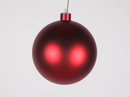 Winterland WL-ORN-BLKM-120-RE-UV 120MM Matte Red Ball Ornament W/Wire And UV Coating
