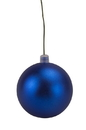 LEDgen WL-ORN-BLKM-200-BL-UV 200mm Matte Blue Ball Ornament with Wire, UV Coated