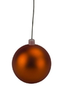 LEDgen WL-ORN-BLKM-200-OR-UV 200mm Matte Orange Ball Ornament with Wire, UV Coated