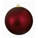 Winterland WL-ORN-BLKM-80-BU-UV 80MM Matte Burgandy Ball Ornament W/Wire And UV Coating