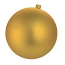 Winterland WL-ORN-BLKM-80-GO-UV 80MM Matte Gold Ball Ornament W/ Wire And UV Coating