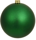 Winterland WL-ORN-BLKM-80-GR-UV 80MM Matte Green Ball Ornament W/Wire And UV Coating