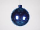 Winterland WL-ORN-BLKS-100-BL-UV 100MM Shiny Blue Ball Ornament W/Wire And UV Coating
