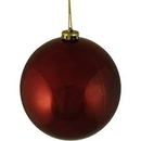Winterland WL-ORN-BLKS-100-BU-UV 100MM Shiny Burgandy Ball Ornament W/Wire And UV Coating