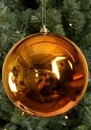 Winterland WL-ORN-BLKS-100-CO-UV - 100MM Shiny Copper Ball Ornament With Wire And UV Coating