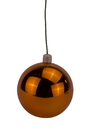 Winterland WL-ORN-BLKS-100-OR-UV WL-ORN-BLKS-100-OR-UV-100mm Shiny Orange Ball Ornament with Wire and UV Coating