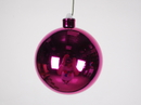 Winterland WL-ORN-BLKS-100-PI-UV 100MM Shiny Pink Ball Ornament W/Wire