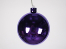 Winterland WL-ORN-BLKS-100-PU-UV 100MM Shiny Purple Ball Ornament W/Wire And UV Coating