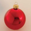 Winterland WL-ORN-BLKS-100-RE-UV 100MM Shiny Red Ball Ornament W/Wire And UV Coating