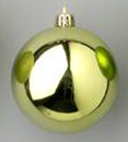 Winterland WL-ORN-BLKS-100-SG-W 100MM Shiny Sage Green Ball Ornament W/Wire