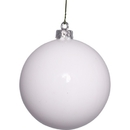 Winterland WL-ORN-BLKS-100-WH-UV -10MM Shiny White Ball Ornament With Wire And UV Coating