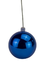 LEDgen WL-ORN-BLKS-120-BL-UV 120mm Shiny Blue Ball Ornament with Wire and UV Coating