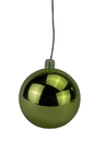LEDgen WL-ORN-BLKS-120-LG-UV 120mm Shiny Lime Green Ball Ornament with Wire and UV Coating