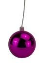 LEDgen WL-ORN-BLKS-200-PI-UV 200mm Shiny Pink Ball Ornament with Wire, UV Coated