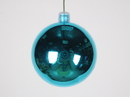 Winterland WL-ORN-BLKS-60-AQ-UV 60Mmshiny Aqua Ball Ornament W/Wire And UV Coating
