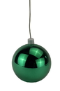 LEDgen WL-ORN-BLKS-60-SG-UV 60mm Shiny Sage Green Ball Ornament with Wire, UV Coated