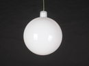 Winterland WL-ORN-BLKS-60-WH-UV 60MM Shiny White Ball Ornament W/Wire And UV Coating